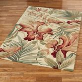 Paradise Foliage Rectangle Rug Ivory