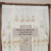 Graceful Blooms Sheer Swag Valance Pair 62 x 38