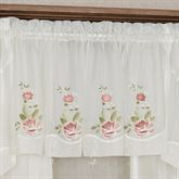Graceful Blooms Sheer Tailored Valance 56 x 18
