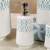 Watercolor Lattice Lotion Soap Dispenser Ivory
