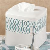 Watercolor Lattice Tissue Cover Ivory