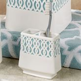 Watercolor Lattice Toothbrush Holder Ivory