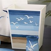 Seagulls Wastebasket Ivory