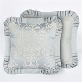 Couture Reversible Flanged Pillow Pale Blue 18 Square
