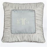 Couture Corded Pillow Pale Blue 19 Square
