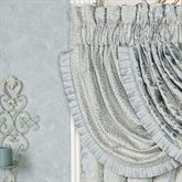Couture Mini Floral Waterfall Valance Pale Blue 43 x 33