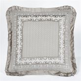 Bellamy Flanged European Sham Silver Gray 26 x 26