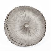 Bellamy Tufted Pillow Silver Gray Round