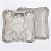 Bellamy Reversible Flanged Pillow Silver Gray 18 Square