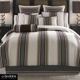Platinum Stripe Comforter Set Ivory
