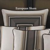 Platinum Stripe Piped Sham Ivory European