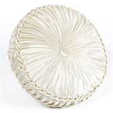 Estate Tufted Pillow Ivory Round