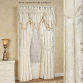Estate Tailored Curtain Pair Ivory