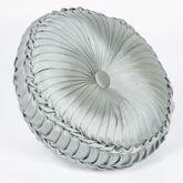 Athena Tufted Pillow Light Taupe Round