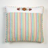 Cote d Azur Embroidered Striped Sham Light Cream European