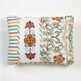 Cote d Azur Embroidered Pillow Light Cream Rectangle