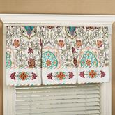 Cote d Azur Embroidered Valance Light Cream 72 x 20