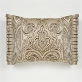 Grandeur Flanged Pillow Golden Beige Rectangle