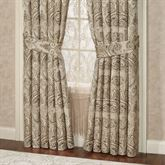 Grandeur Wide Tailored Curtain Pair Golden Beige