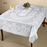 Hadleigh Lace Oblong Tablecloth White
