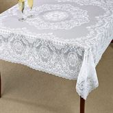 Hadleigh Lace Square Tablecloth White 62 x 62