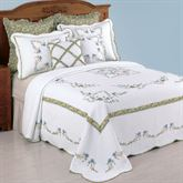 Heather Quilted Bedspread White