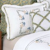 Heather Quilted Sham White Standard