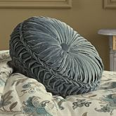 Adrianna Tufted Pillow Teal Round