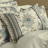 Adrianna Flanged Pillow Teal Rectangle
