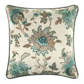 Adrianna Piped Pillow Teal 18 Square
