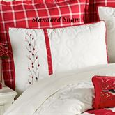 Berry Wreath Quilted Sham Eggshell Standard