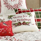 Berry Wreath Home for Holidays Pillow Eggshell Rectangle