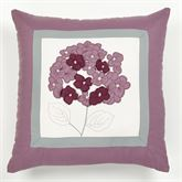 Harmony Embroidered Pillow Orchid 18 Square