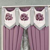 Harmony Epaulet Tab Valance Orchid
