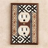 Tribal Single Outlet Brown