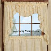 Mary Ruffled Swag Valance Pair 56 x 38