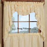 Mary Ruffled Swag Valance Pair 56 x 38