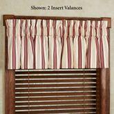 Kimberly Stripe Insert Valance Only 33 x 15