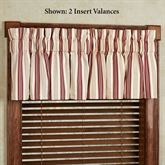 Kimberly Stripe Insert Valance Only 33 x 15