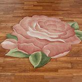 Cordial Garden Flower Shaped Rug Brick