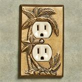 Palm Tree Single Outlet Antique Brass
