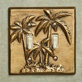 Palm Tree Double Switch Antique Brass