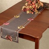 Falling Leaves Long Table Runner Brown 16 x 72