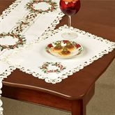 Holiday Wreath Placemats Cream Set of Four