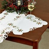 Boughs of Holly Placemats Cream Set of Four