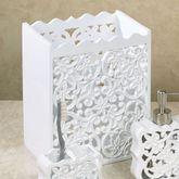 Belle Wastebasket White