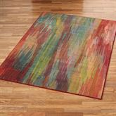 Prismatic Rectangle Rug Red
