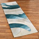 Perfect Storm Rug Runner Blue 23 x 76