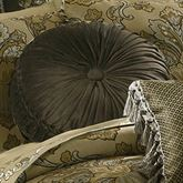 Tosca Tufted Round Pillow Tan 15 Round