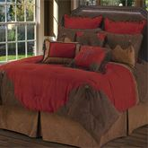 Red Rodeo Oversized Comforter Bed Set Dark Red